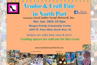 Vendor & Craft Fair in North Port- Jan 26, 2019