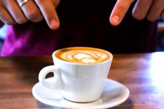 """Perq offers many unique coffee and espresso beverages, including their signature """"flat white""""."""